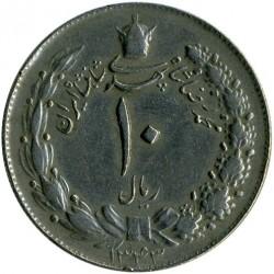Moneta > 10rialów, 1962-1965 - Iran  - obverse