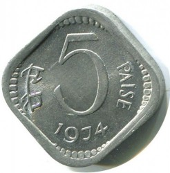 Mynt > 5 paise, 1973-1984 - India  - obverse