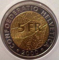 Монета > 5франків, 2000 - Швейцарія  (150-річчя Швейцарській національній грошовій системі) - obverse