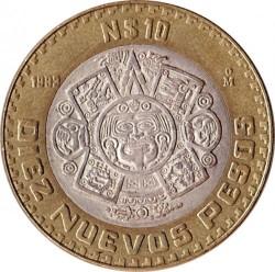 العملة > 10بيزوجديد, 1992-1995 - المكسيك  - obverse