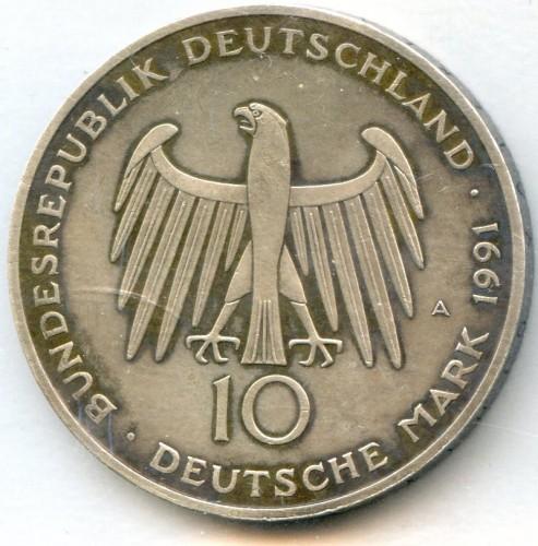 10 Mark 1991 Brandenburger Tor Deutschland Münzen Wert Ucoinnet