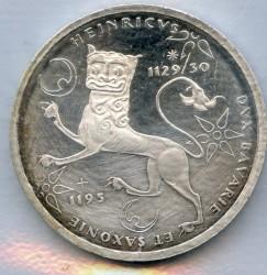 Moneda > 10marcos, 1995 - Alemania  (800 Aniversario - De La muerte de Henry de León) - reverse