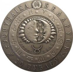 Moneta > 20rubli, 2009 - Białoruś  (Znaki zodiaku - Byk) - obverse
