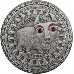 Moneta > 20rubli, 2009 - Białoruś  (Znaki zodiaku - Byk) - reverse
