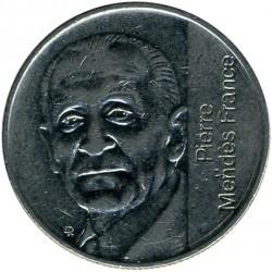 سکه > 5فرانک, 1992 - فرانسه  (10th Anniversary - Death of Pierre Mendes-France) - obverse