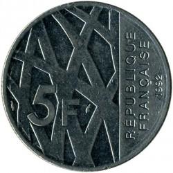 سکه > 5فرانک, 1992 - فرانسه  (10th Anniversary - Death of Pierre Mendes-France) - reverse