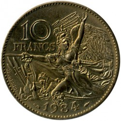Coin > 10francs, 1984 - France  (200th Anniversary - Birth of Francois Rude) - obverse