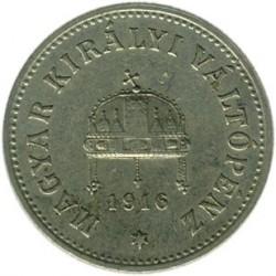Moneda > 10fillér, 1914-1916 - Hongria  - obverse