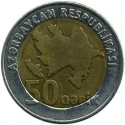 Moneda > 50qəpik, 2006 - Azerbaiyán  - obverse