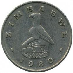 Moneda > 20centavos, 1980-1997 - Zimbabue  - obverse