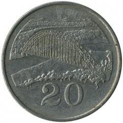 Moneda > 20centavos, 1980-1997 - Zimbabue  - reverse
