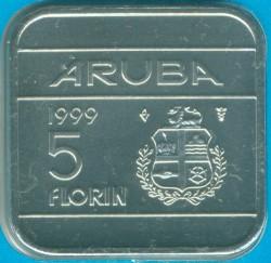 Münze > 5Florin, 1995-2005 - Aruba  - reverse