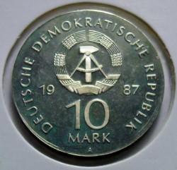 Moneda > 10marcos, 1987 - Alemania - RDA  (750º Aniversario - Berlín, Konzerthaus) - obverse
