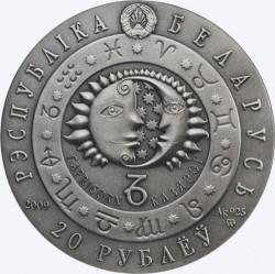Moneta > 20rubli, 2009 - Białoruś  (Znaki zodiaku - Koziorożec) - obverse
