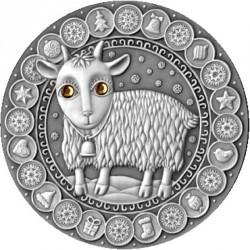 Moneta > 20rubli, 2009 - Białoruś  (Znaki zodiaku - Koziorożec) - reverse