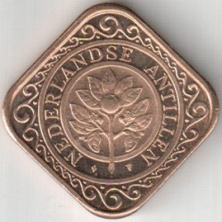 Moneda > 50centavos, 1995 - Antillas Holandesas  - reverse