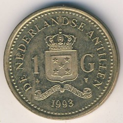 Moneda > 1florín, 1989-2013 - Antillas Holandesas  - obverse