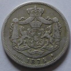 Pièce > 1leu, 1873-1876 - Roumanie  - obverse
