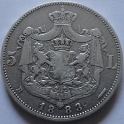 מטבע > 5לאי, 1881-1885 - רומניה  - obverse