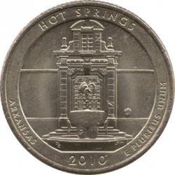 سکه > ¼دلار, 2010 - ایالات متحده آمریکا  (Hot Springs National Park Quarter) - reverse
