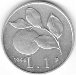 Moneta > 1lir, 1946-1950 - Włochy  - reverse