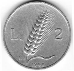 Pièce > 2lires, 1946-1950 - Italie  - reverse