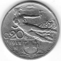 Coin > 20centesimi, 1912 - Italy  - obverse