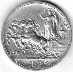 Moneta > 2liros, 1914-1917 - Italija  - obverse