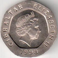 Coin > 20pence, 1998-2003 - Gibraltar  - obverse