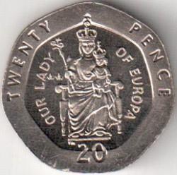 Coin > 20pence, 1998-2003 - Gibraltar  - reverse