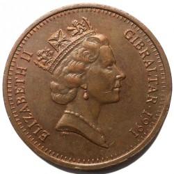 Moneda > 2peniques, 1988-1995 - Gibraltar  - obverse
