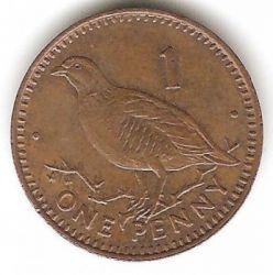 Монета > 1пенні, 1988-1995 - Гібралтар  - obverse