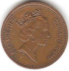 Монета > 1пенні, 1988-1995 - Гібралтар  - reverse