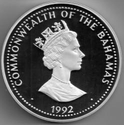 Монета > 100долларов, 1992 - Багамы  (Открытие Нового Света) - obverse