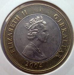 Moneta > 2sterline, 2004 - Gibilterra  (300° anniversario - Cattura di Gibilterra) - obverse