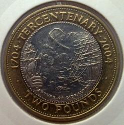 Moneta > 2sterline, 2004 - Gibilterra  (300° anniversario - Cattura di Gibilterra) - reverse