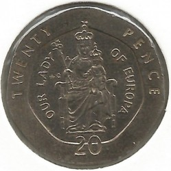 מטבע > 20פנס, 1988-1997 - גיברלטר  - obverse