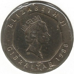 מטבע > 20פנס, 1988-1997 - גיברלטר  - reverse