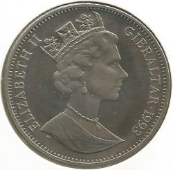 Moneta > 1corona, 1993 - Gibilterra  (XVII Giochi olimpici invernali, Lillehammer 1994 - Sci di fondo) - obverse