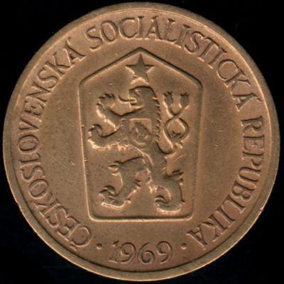 1 Koruna 1969 Tchécoslovaquie Valeur Pièce Ucoinnet
