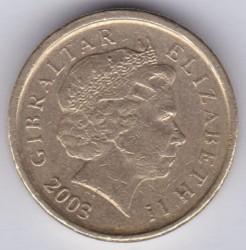 Moneta > 1sterlina, 2003 - Gibilterra  (1700° anniversario - Morte di San Giorgio) - obverse