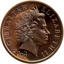 Moneda > 2peniques, 1998-2003 - Gibraltar  - obverse