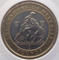 Moneda > 2libras, 1997 - Gibraltar  (12 Trabajos de Hércules - León de Nemea) - obverse