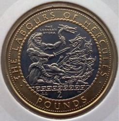 Moneta > 2sterline, 1998 - Gibilterra  (Le 12 fatiche di Ercole - Idra di Lerna) - reverse
