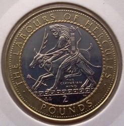 Moneta > 2sterline, 1998 - Gibilterra  (Le 12 fatiche di Ercole - La cerva di Cerinea) - reverse