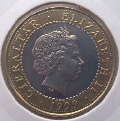Moneda > 2libras, 1999 - Gibraltar  (12 Labors of Hercules - Mares of Diomedes) - reverse