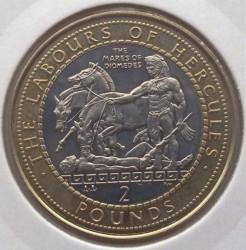 Moneta > 2sterline, 1999 - Gibilterra  (Le 12 fatiche di Ercole - Le cavalle di Diomede) - reverse
