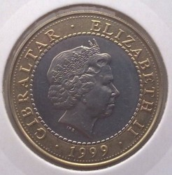 Moneta > 2sterline, 1999 - Gibilterra  (Le 12 fatiche di Ercole - Gli uccelli del lago Stinfalo) - reverse