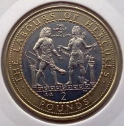 Moeda > 2libras, 2000 - Gibraltar  (12 Labors of Hercules - Hippolyta's Girdle) - reverse