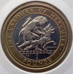 Moneda > 2libras, 2000 - Gibraltar  (12 Labors of Hercules - Taming of Cerberus) - obverse